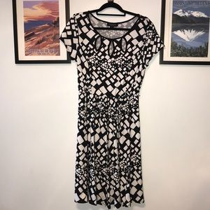 black & white, soft and comfortable!  Fit & Flare